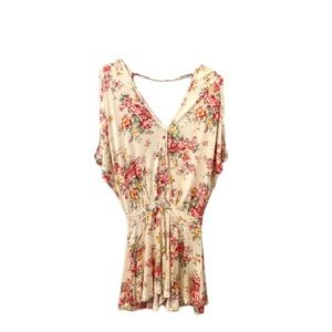 Pins & Needles Yellow Floral Romper- Small